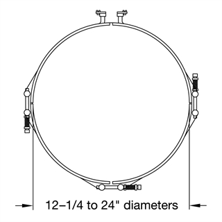 Heater Diameters 12 to 24 inches