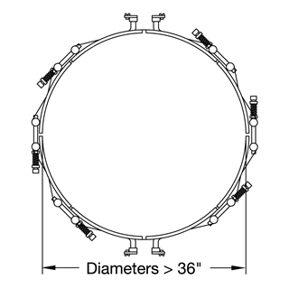 Heater Diameters over 36 inches