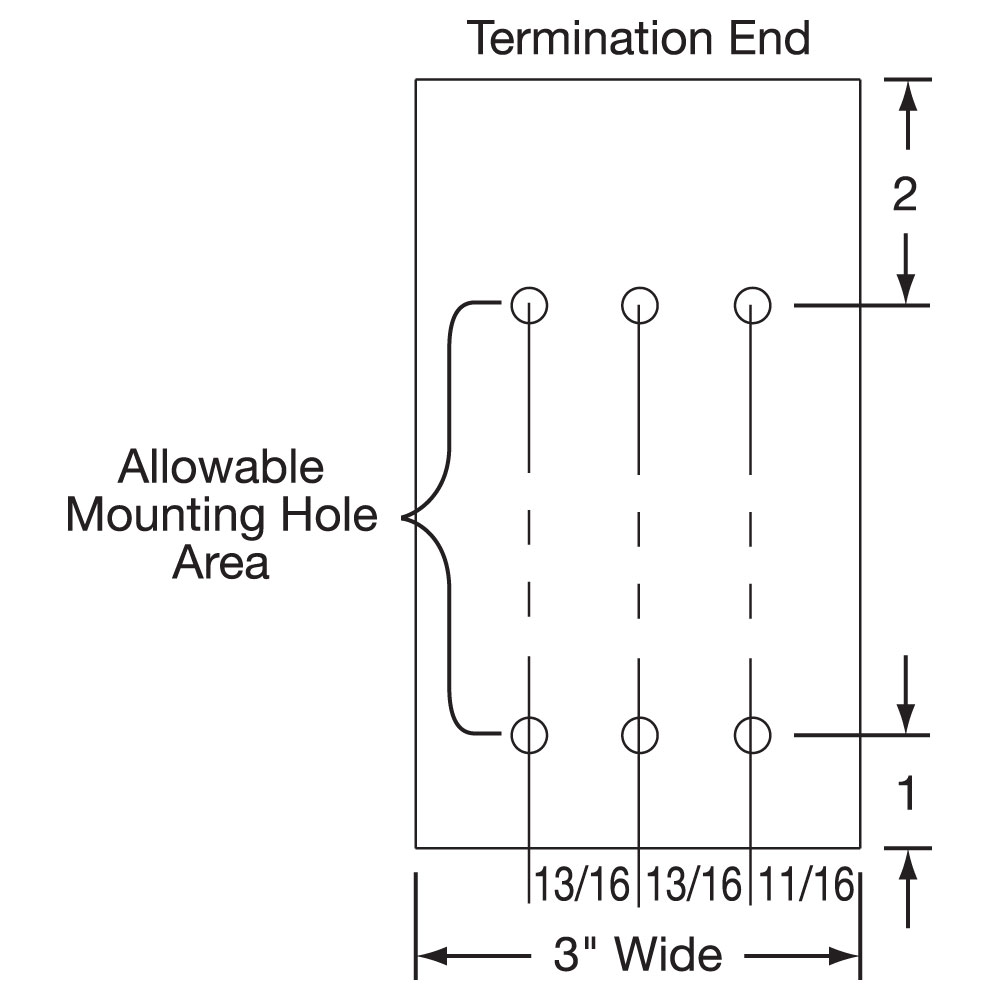 Maxistrip Heater Mounting Hole Drawing 2