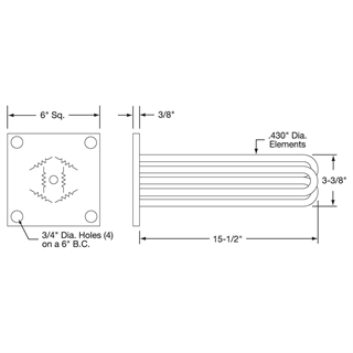 Flange Heater Drawing