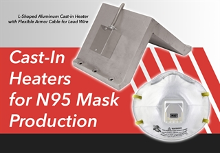 Cast-in heater and mask
