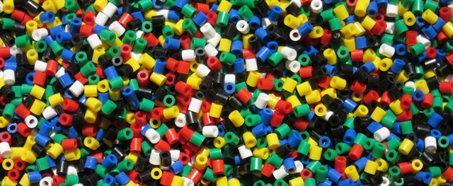 Colorful Plastic Pellets used in Extrusion