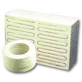 Ceramic fiber heater group